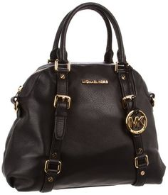 976535cb5183 Michael Kors Bedford Large Bowling Satchel in Black. I like Michael Kors  purses.