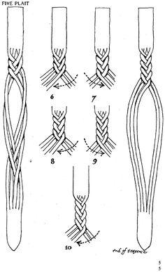"How to make ""secret"" plaited leather bracelet :-)"