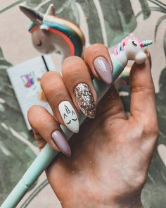 It's time to transform your dull and plain nails with these 35 stylish pointy stiletto nails designs. Truly, you can attract the crowd with just your nails! Cute Acrylic Nails, Cute Nails, Pretty Nails, Perfect Nails, Gorgeous Nails, Hair And Nails, My Nails, Unicorn Nail Art, Unicorn Nails Designs
