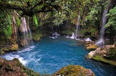 Puente de Dios waterfall, Sierra Gorda Queretana Central Mexico