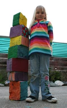 Filth Wizardry: Giant reclaimed wooden blocks