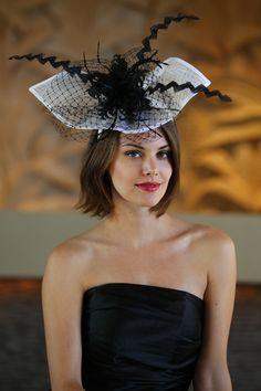 #black/white #fascinator @Hat and Fashion.com