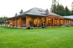 Patio design David Coulson Patio design David Coulson Image Size: 1200 x 800 Source Metal Barn Homes, Metal Building Homes, Pole Barn Homes, Building Design, Building A House, Morton Building Homes, Metal House Plans, Porch House Plans, Pole Barn House Plans
