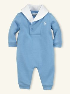 LOVE!  Shawl-Collar Coverall - Layette One-Pieces & Sets - RalphLauren.com