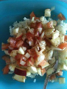 Apple-Lime Salsa on Rice