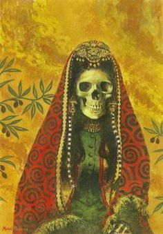"""Art Artist Michael Thomas; Painting, """"Death Witch""""  Acrylic on primed cotton #art"""