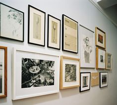 lonny February March 2010 Issue Photos - different gallery wall