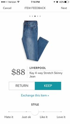 I'm looking for skinny jeans that are not ankle crop and are in this light blue color. I have enough dark blue jeans but not a very light colored denim like this.