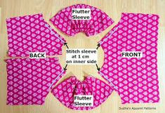 Sudha's Apparel Patterns: Flutter sleeve Romper - sewing tutorial & FREE pattern (PART-2)
