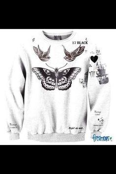 Harry Styles tattoo jumper waaaaaaaaaaaaaaaaaaaaaaaaaaaaaaant really this would be the best berfday present ever