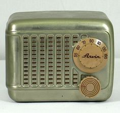 Art Deco Arvin Brushed Nickeltube Radio L K | eBay