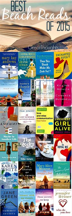 "I don't know that I""ll really be hitting the beach this summer but this ""beach reads"" might come in handy anyway. :)"