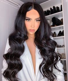 Brown Black Luxurious Foxy Locks Luxurious Clip In Remy Human Hair Extensions. The weight of these stunning hair extensions are Dark Brown Hair Extensions, Long Hair Extensions, Long Dark Hair, Wavy Black Hair, Black Hair Makeup, Aesthetic Hair, Down Hairstyles, Balayage Hair, Human Hair Wigs