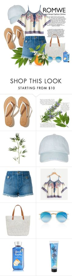 """""""ROMWE 2017 /2"""" by karolinakaroo ❤ liked on Polyvore featuring Hollister Co., Pier 1 Imports, Topshop, Chloé, Seafolly, Ray-Ban and Bumble and bumble"""