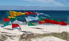 """""""Arte de las playas"""" by Alejandro Propato of Argentina was displayed on the first day of the annual Sculpture by the Sea, Cottesloe outdoor art exhibition at Cottesloe Beach on March 2010 in Perth, Australia. (Photo by Paul Kane/Getty Images) Cottesloe Beach, Outdoor Art, Outdoor Decor, Sea Sculpture, South American Art, Perth Australia, March 4, Coastal, Southern"""