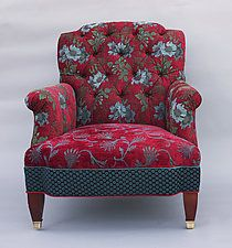 Chelsea Chair in Red Wine by Mary Lynn O'Shea (Upholstered Chair)