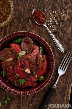 Ruokablogi | Valokuvablogi | Jokihaka kokkaa: Paahdettua paprikaa ja chorizoa
