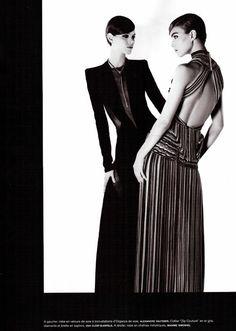 Bal de la Couture: Arizona Muse & Freja Beha Ericksen by Karl Lagerfeld