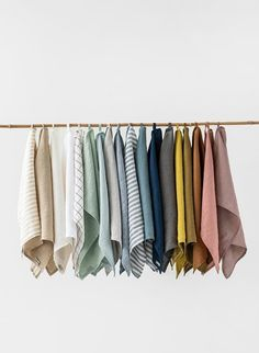 Linen kitchen towels in every color of the rainbow. Linen tea towel made from high quality European linen fabric. Keep your kitchen neat and tidy with the help of this absorbent and durable linen kitchen towel. Wash dishes, clean surfaces, and do other chores - linen is so durable and absorbent, it is irreplaceable in any kitchen.