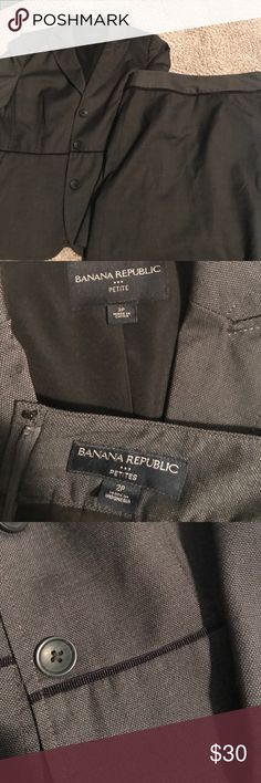 Dark suit jacket and skirt included Dark suit. skirt 18 in length. Professional wardrobe on sale due to pregnancy. Love to bundle. Banana Republic Jackets & Coats Blazers