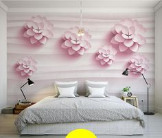 Barato Personalizado 3D murais, 3D quente estéreo flores rosa papel de parede, Sala de estar sofá TV parede crianças quarto fundo mural papel de parede 3D, Compro Qualidade Papéis de parede diretamente de fornecedores da China:        Personalizado murais 3d, 3D estéreo quente rosa flores papel de parede, sala sofá tv parede fundo sala de criança