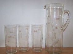 etched-glass-jug-and-glasses-beautiful-grass-and-flower-etching-water-jug