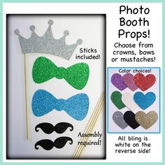 A personal favorite from my Etsy shop https://www.etsy.com/listing/188921516/bling-photo-booth-props-bling-bow-tie