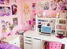 "noodlerella: ""I am living that magical girl life Watch my ROOM TOUR here "" Cute Room Ideas, Cute Room Decor, Girl Decor, My New Room, My Room, Girl Room, Girls Bedroom, Bedroom Decor, Bedrooms"