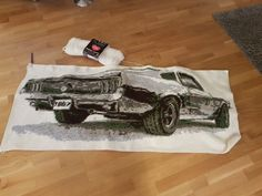 Crochet 1967 Ford Mustang fastback. It took me about 4 weeks to do it.