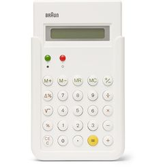 Invest in a desktop companion you'll use for years to come with Braun's 'ET66' calculator. Created by Messrs Dieter Rams and Dietrich Lubs in 1987, it's a modern design icon which exudes Mr Rams' uncomplicated aesthetic and even inspired Apple's prototype iPhone calculator app interface.