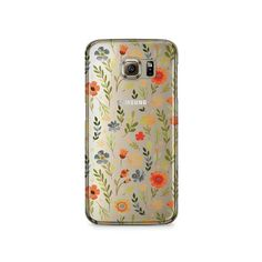 Floral Samsung Galaxy S6 Clear Case