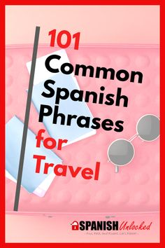 If you are going to a Spanish speaking country, you must know these Spanish travel phrases to help your trip go smoothly. Learn basic Spanish greetings and phrases  before your trip. This post lists 101 Spanish words and phrases for travel and includes a free printable pdf. | Spanish phrases #travel #spain #mexico #Learnspanish #travelspanish #travelphrases  #spanishfortravel #travel #learningspanishforadults Common Spanish Phrases, Spanish Vocabulary, Spanish Words, Spanish Language Learning, Teaching Spanish, Learn Spanish Free, Learn To Speak Spanish, Learn Spanish Online, Study Spanish