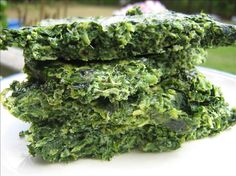 No Carb Spinach Bread. good for sandwiches and as buns for hamburgers.