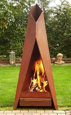 Home & DIY fireplace improvements fireplace ideas. Metal Fire Pit, Wood Burning Fire Pit, Diy Fire Pit, Outside Fire Pits, Cool Fire Pits, Outdoor Fireplace Designs, Diy Fireplace, Backyard Sheds, Fire Pit Backyard