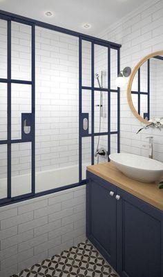 Stunning Colorful Bathroom Tiles Decor Ideas this Year 51 – Badezimmer einrichtung Vintage Bathrooms, Rustic Bathrooms, Modern Bathrooms, White Bathrooms, Master Bathrooms, Luxury Bathrooms, Dream Bathrooms, Modern Bathroom Design, Bathroom Interior Design