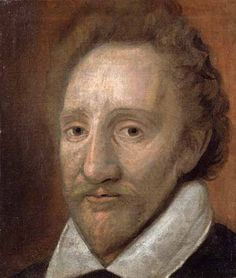 Portrait of William Burbage (1567-1614), a leading actor of Shakespeare's theatre company and the first man ever to play Hamlet on stage. Portrait by an unknown artist (Dulwich Picture Gallery). On display in the British Library's 'Shakespeare In Ten Acts' exhibition until 6th September 2016.