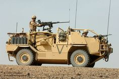 A Jackal Armoured Vehicle is put through it's paces at Camp Bastion, Afghanistan.
