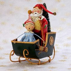 Whimsical Christmas decorations & figurines by Lori Mitchell. Cute wire leg figures will warm your heart with holiday cheer. Shop Lori Mitchell Christmas now! Whimsical Christmas, Christmas Fun, Vintage Christmas, Christmas Decorations, Christmas Scenes, Father Christmas, Christmas Centerpieces, Xmas, Little Red Hen
