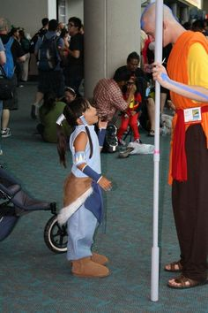 Korra and Aang from The Legend of Korra Cosplay