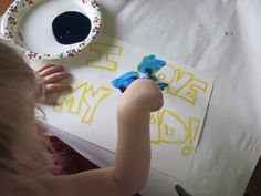 Father's Day Finger Painting