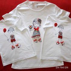 Día tras Día, camisetas personalizadas, mirad que detalle, hechas a mano con cariño > Minimoda.es