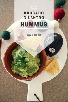 Snack Time With Avocado - Avocado Cilantro Hummus Clean Eating Vegetarian, Vegetarian Recipes, Snack Recipes, Healthy Recipes, Dip Recipes, Appetizer Recipes, College Meals, College Recipes, Cilantro Hummus