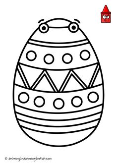 Drawing Easter Egg | Easter Coloring Egg | Easter Drawing Ideas