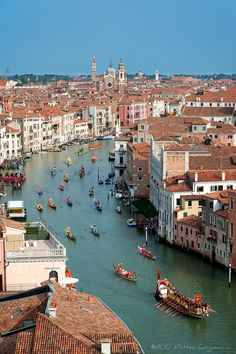 The Grand Canal in Venice Places Around The World, Travel Around The World, Around The Worlds, Venice Travel, Italy Travel, Places To Travel, Places To Visit, Sorrento Italy, Naples Italy