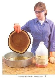 how to preserve wood slices, I seriuosly have already decided to make some for stepping stones so this is good to know.