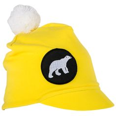 icy junior yellow Kids Fashion, Beanie, Outdoors, Yellow, How To Make, Cotton, Style, Swag, Beanies