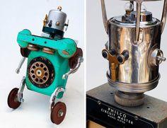 Dark Roasted Blend: Utterly Irresistible Robot Sculptures