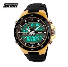 cf0e9933bfd Pánské sportovní duální analogové a digitální LED hodinky SKMEI Na tento  produkt se vztahuje nejen zajímavá