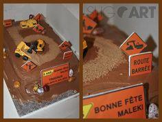 Idées pour une fête sous le thème des camions - Wooloo Cakes For Boys, Amazing Cakes, Birthday, Desserts, Nice Cake, Food, Trains, Biscuits, Construction