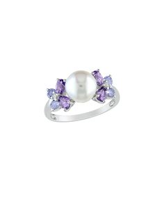 Freshwater+pearl+&+silver+ring+by+Tanzanite+on+secretsales.com